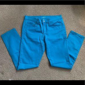 LOFT 27/4 Blue Modern Skinny Jeans